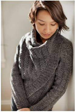 This is Fuse.  Starting this on Christmas Day after my gift of yarn to make it!  Click here for the pattern.  I can't wait to get this on the needles.