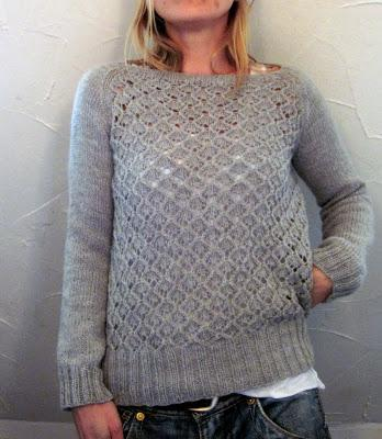 It's called Chalkstone.  After all the test knitters are done, you can get the pattern on Ravelry.