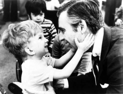 I didn't love him when I was a kid --I was more a Captain Kangaroo kind of gal.  It's only now that I'm grown up (kind of) that I get his wisdom and approach to peace.