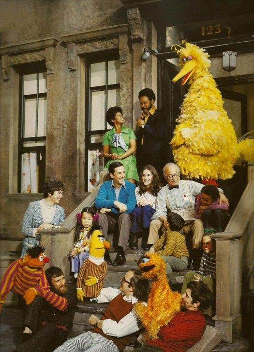 The original cast of Sesame Street (See Orange Oscar?)