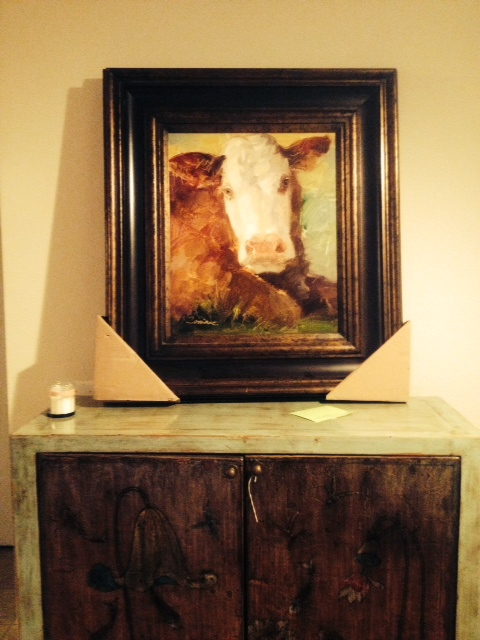 Yep, it's a cow.  In oil on canvas.