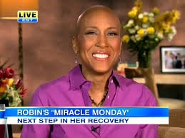 From the GMA/ABC News Website.  This is Robin in her going thru it stage.