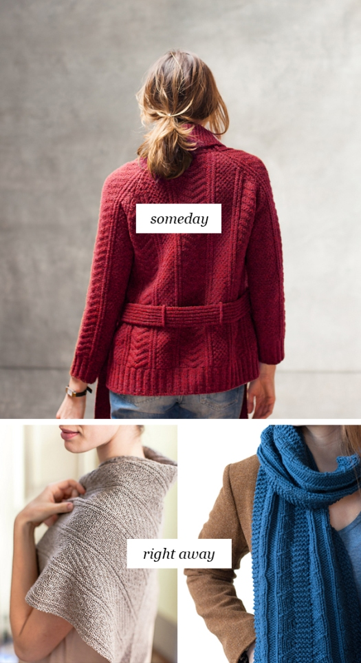 Someday vs Right Away: Deluxe knit-purl combos