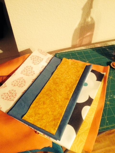 Those little bits took two hours to iron and measure twice before cutting.  I'm slow in the evening.
