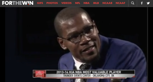 Click thru for Durant's words at the MVP ceremony.
